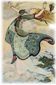 THE WHIRLWIND CARRIED AWAY GOLDEN TRESS from the story THE KINGDOMS OF COPPER, SILVER, AND GOLD in The Russian Story Book